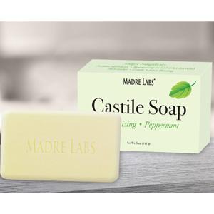 今日特惠!Madre Labs薄荷橄榄油皂 5盎司(141 g)温和清洁去角质