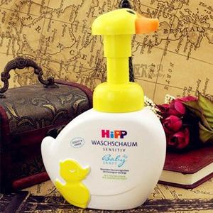 Hipp喜宝小鸭子儿童泡泡洗手洗脸液 无泪配方 250ml*2个装