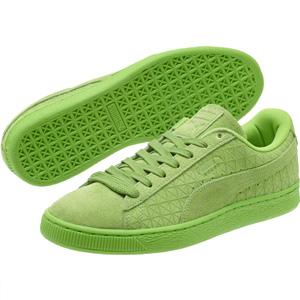 PUMA彪马男士麂皮运动板鞋 绿色款