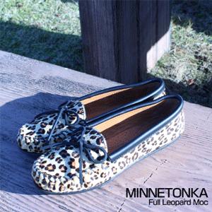 Minnetonka迷你唐卡 Full Leopard 豹纹平底鞋