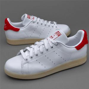 adidas 阿迪达斯 Stan Smith 女士休闲运动鞋 红尾