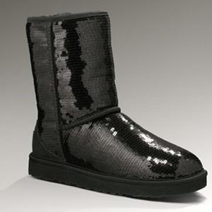 UGG Classic女士黑色经典亮片雪地靴