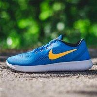 Nike耐克Free RN男士经典轻量跑鞋 蓝色