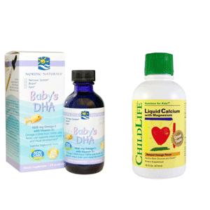 Childlife儿童液体钙镁锌1瓶+Nordic Naturals 挪威小鱼2瓶