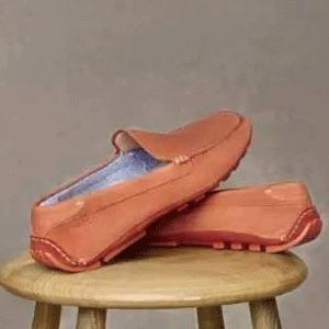 ECCO 爱步Summer Moc男士真皮一脚蹬豆豆鞋驾车鞋