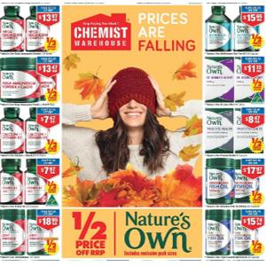 澳洲CW大药房 Nature's Own保健品牌专场 低至5折