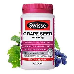 Swisse葡萄籽美白花青素180粒