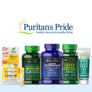 Puritan's Pride普丽普莱官网精选保健品买1送1/买2送3