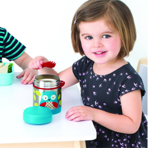 Skip Hop 儿童绝热饭盒叉勺套装 325ml