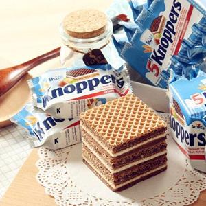 knoppers牛奶榛子巧克力威化饼干家庭装 24包 2盒装