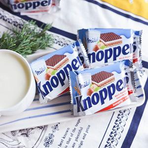 凑单品!knoppers牛奶榛子巧克力威化饼干家庭装 24包