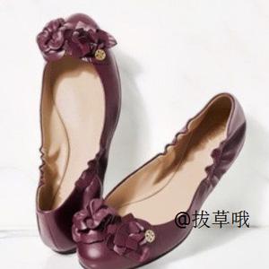 Tory Burch托里·伯奇 女士立体花朵小羊皮平底鞋