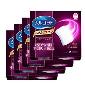 补货!Unicharm尤妮佳 1/3极细纤维化妆棉 32枚*4盒