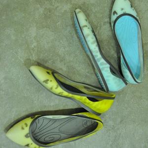 Crocs卡洛驰Rio Leopard Fade Flat女士水墨点时尚平底鞋