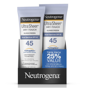 Neutrogena露得清 SPF45 清透防晒乳 88ml*2支