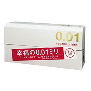Sagami相模 幸福0.01mm超薄避孕套 5只装