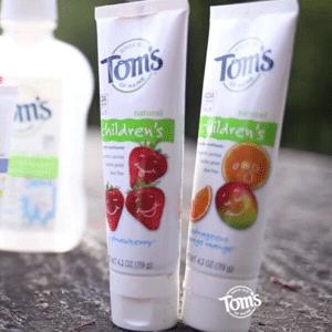 Tom's of Maine 儿童天然草莓味牙膏119g*3支