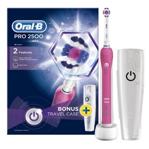 新低价!Oral-B Pro 2500 3D电动牙刷 粉色款