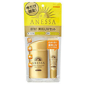 限定套装:资生堂ANESSA安耐晒60ml金瓶+15g面部专用
