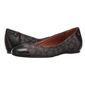 COACH蔻驰Chelsea女士真皮平底鞋 两色