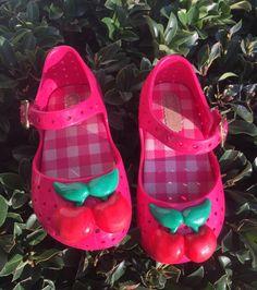 Melissa Mini Furadinha Cherry玛丽珍小童鞋 粉色