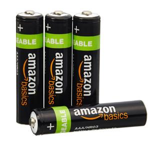 新低价!AmazonBasics亚马逊倍思 AAA型镍氢7号充电电池800mAh*4节