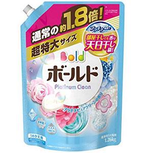 宝洁P&G 花香子Bold柔顺花香洗衣液替换装 1.26kg 无荧光剂