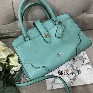 COACH蔻驰Grain Leather Mercer 24 Satchel女士斜挎包