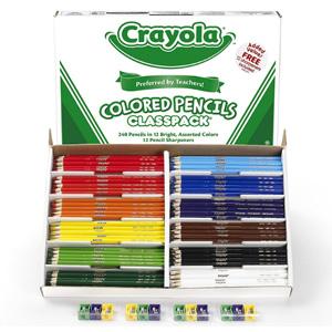 Crayola绘儿乐 12色彩色铅笔套装 240支+削笔器