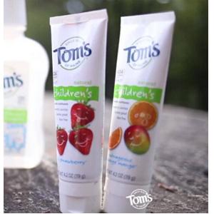 补货!Tom's of Maine 儿童天然草莓味牙膏119g*3支