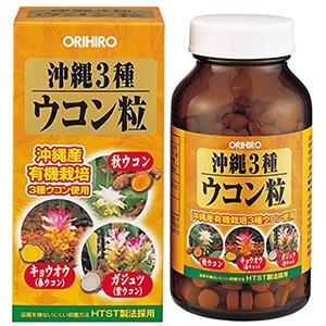 ORIHIRO立喜乐 冲绳3种姜黄颗粒 解酒护肝