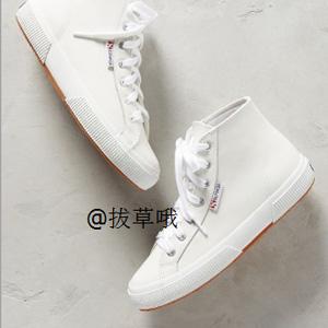 Superga 2095 COTU系列女士高帮帆布小白鞋