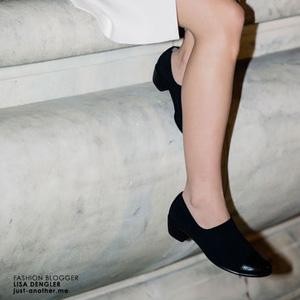 ECCO爱步Touch 35女士真皮粗跟单鞋