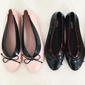 Melissa梅丽莎女士蝴蝶结果冻鞋
