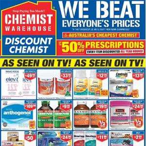澳洲CW大药房五一促销 精选商品半价优惠