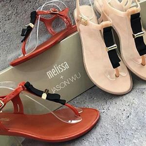 Melissa梅丽莎Solar + Jason Wu平底夹脚凉鞋 多色