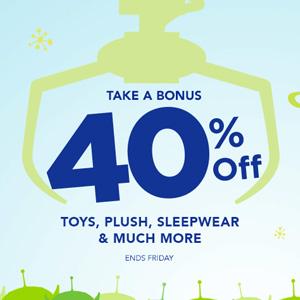 Disneystore官网有精选迪斯尼主题玩具、睡衣6折促销