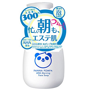 PANNA AHA熊猫果酸柔嫩泡沫早晨洗面奶300ml