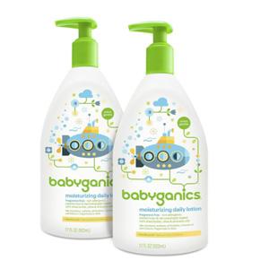 补货!Babyganics甘尼克宝贝 宝贝日用保湿乳 无香型 502ml*2瓶