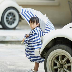 网易严选 儿童海军小斗篷雨衣