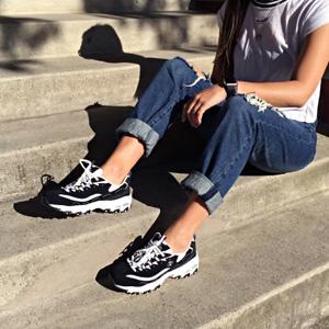 6码起有货!Skechers斯凯奇 D'Lites Centennial 女士熊猫鞋