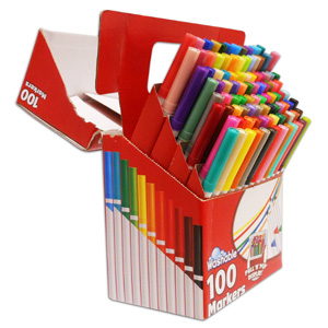 RoseArt SuperTip 彩色可水洗马克笔 100支装
