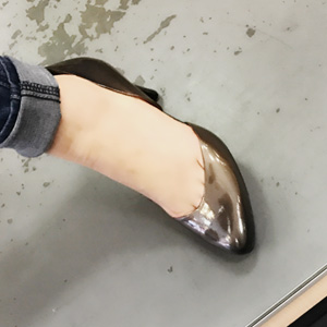 Ecco爱步女士阿丽特真皮隔断高跟鞋