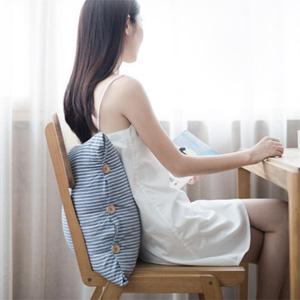 网易严选 日式色织水洗条纹抱枕 三色
