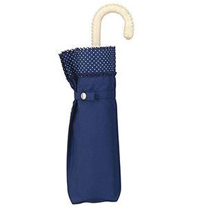 WPC三折6骨遮光遮热系列轻量涂层遮阳伞 蓝色