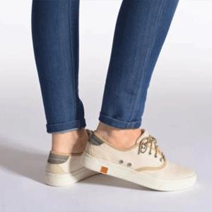 Timberland 添柏岚 女士帆布板鞋 双色可选