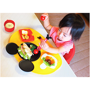 锦化成 迪士尼米奇造型 儿童餐具餐盘八件套