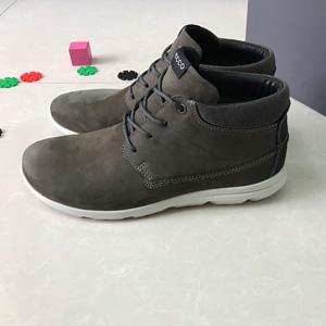 ECCO爱步 卡尔加 男士高帮真皮休闲鞋