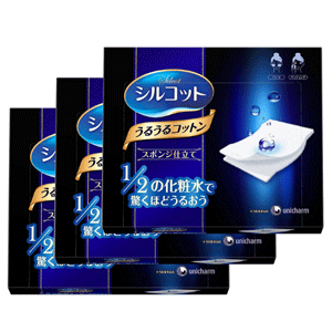 Unicharm尤妮佳1/2化妆棉 40枚*3盒