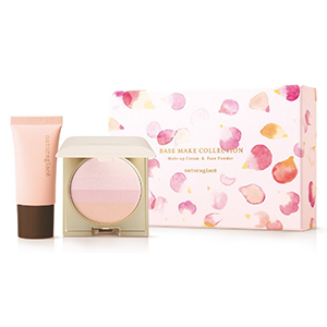 Naturaglace限定版套装:粉底液+蜜粉饼